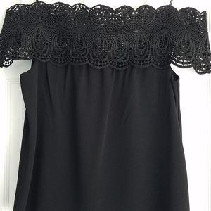 Wayf black off the shoulder lace top